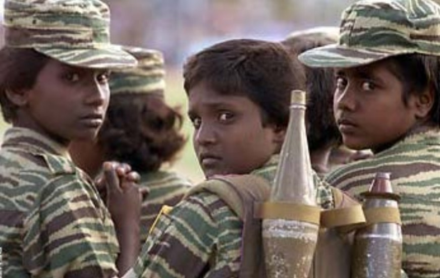 One of the LTTE's many crimes against humanity, the use of child soldiers
