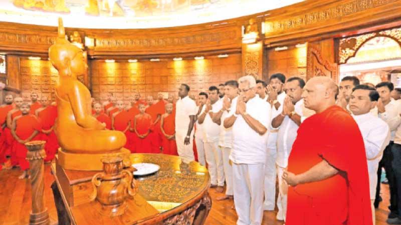 President Gotabaya Rajapaksa participating in religious observances